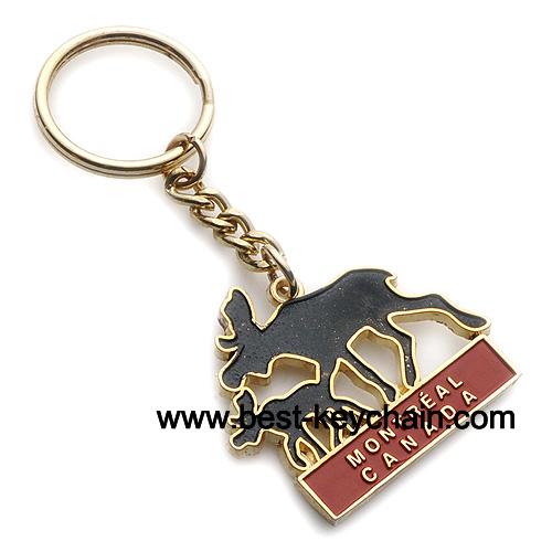 Canada keychain moose key chain souvenir canada keyring montreal key